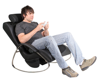 Sky Lounger BoomChair in use